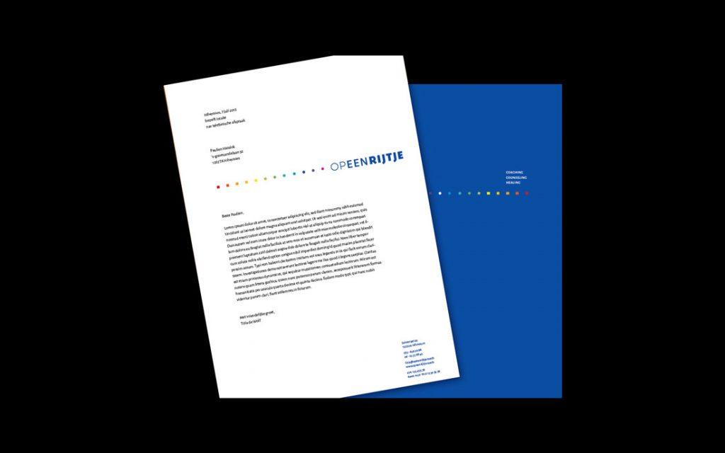 Briefpapier huisstijl website Hilversum